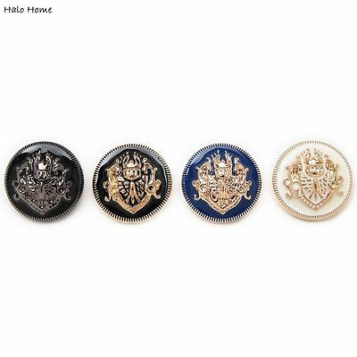 5pcs Metal Buttons Lion Coat Clothing Repair Sewing Decor Replace