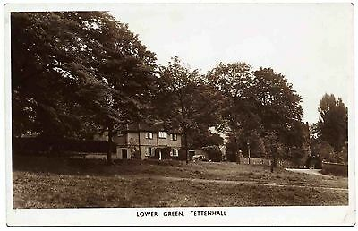 Early R/photo Postcard . Lower Green . Tettenhall . Wolverhampton. Staffordshire