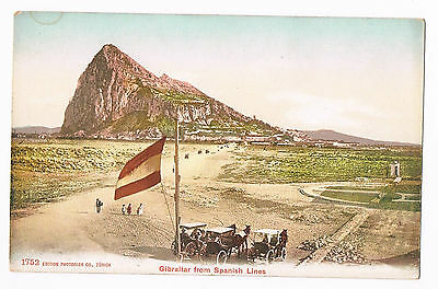 Gibraltar - From Spanish Lines  C.1910  - Photoglob Co. No.1752