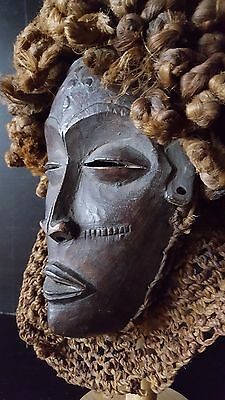 ANTIQUE masque Africain AFRICAN MASK AFRICANISCHE CHOKWE ANGOLA