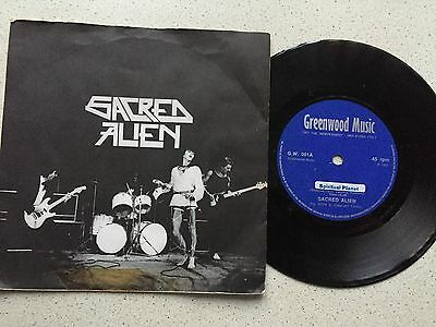 Sacred Alien...spiritual Planet.. Uk Issue P/sleeve On Greenwood Records Gw 001