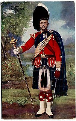 Antique Postcard . A Seaforth Highlander . Scotland . P/u 1908
