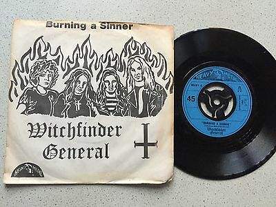 Witchfinder General...burning A Sinner.. Uk Issue P/sleeve  Heavey 6