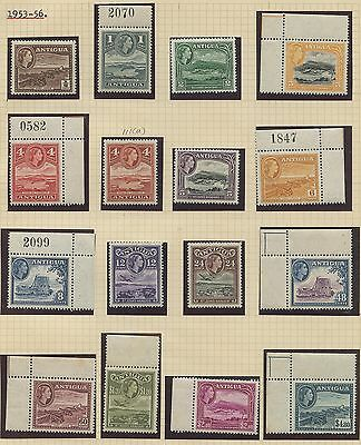 Antigua 1953 QEII issue complete Sc #107-121 MNH