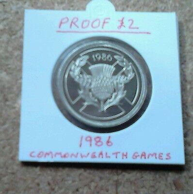 1986 Proof Commonwealth Games Two Pound £2 Coin.
