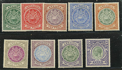 Antigua 1908 KGV issue complete Sc #31-41 mlh/hr