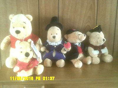 Winnie The Pooh Soft Toy  X 5 Two Are Approx Ten Inches High One Is Six Inches