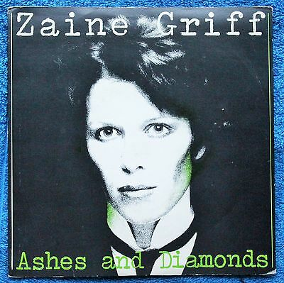 """Zaine Griff  Ashes And Diamonds Electronic, Rock, Pop 1980s EX+ 7 """" INCH 45RPM"""