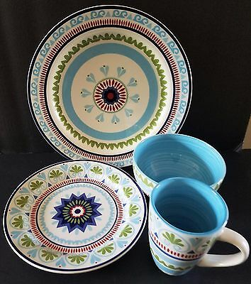 Marrakesh by Euro Ceramica 16 PC Dinnerware Set Serving For 4 New