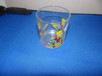 Nutella The Simpsons Bart Skateboarding Glass From 2000