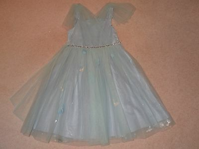 Girls Blue & Green Tulle Dress - size 10 years -  Monsoon - Immaculate