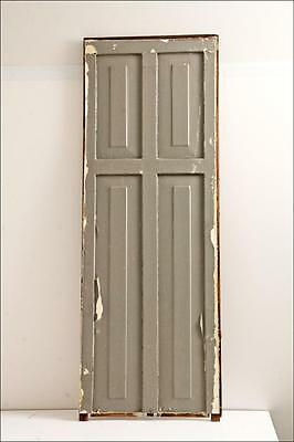 Vintage WOOD PANEL wooden cabinet door shutter architectural salvage barn house