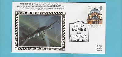 Benham Anniversary of World War 2 Cover Series - The First Bombs Fall on LONDON