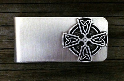 Ringed Celtic Cross Money Clip -Irish/Scottish/Handcrafted #1476