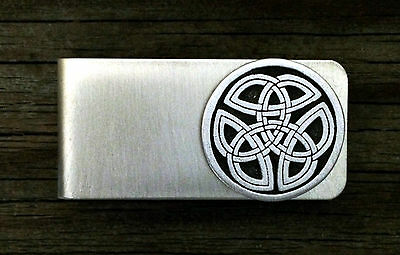 Celtic Tri Knot Money Clip -Irish/Scottish/Handcrafted #1261