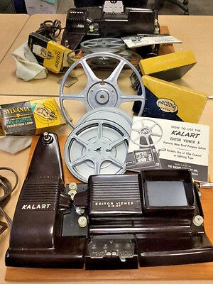 Vintage Kalart Film Editor Viewer #EV-8 DS with original equipment and working