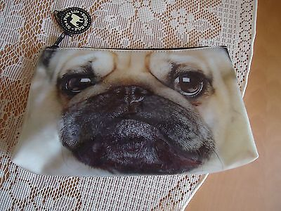 nwt pug dog cosmetic bag made by it's a dogs life pug goods 1085 7751
