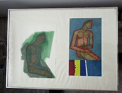 "Anna Norwitch (b.1929) 1989 HOUSEHOLD GOD SKETCHES ORIGINAL 30"" x 22""  BRITISH"