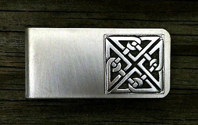 Celtic Square Knot Money Clip -Irish/Scottish/Handcrafted #1230