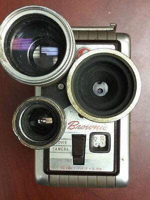 Vintage Kodak Brownie 8mm Movie Camera Turret f/1.9 MADE IN THE USA
