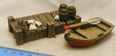 Boat and quay 28mm Fantasy, historical and science fiction scenery