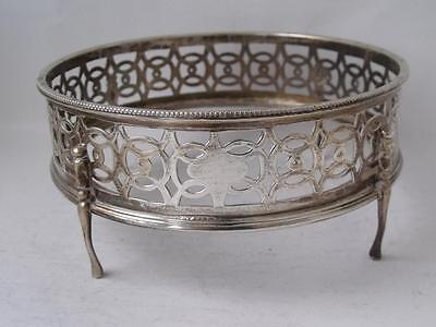 Pierced Solid Sterling Silver Dish Stand/ Mount 1947/ Dia 13 cm/ 155 g