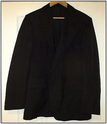 Wool Mix Vintage Evening Jacket, Wildings. Approx 40R. Fancy Lapel/collar Trim
