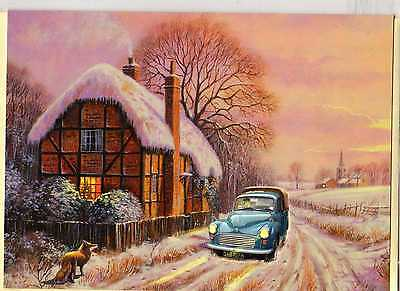 Morris Minor Pick-Up--Christmas Print Card--Kevin Walsh