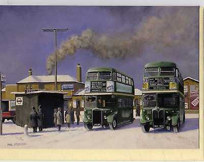 London Country Buses At Hatfield Station--Christmas Card--Paul Atchinson