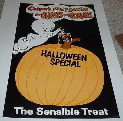 1960's CASPER the GHOST HI-C Drink Store Display Halloween Poster