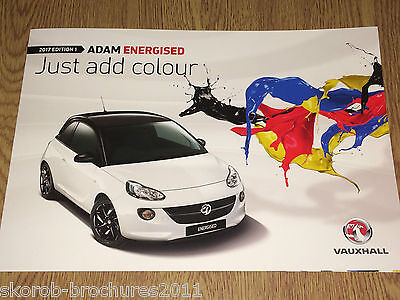 VAUXHALL - The Adam Energised Sales Brochure 2017 Edition 1