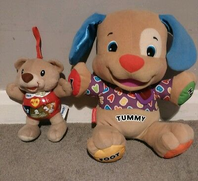 Fisher Price and Vtech musical learning teddies