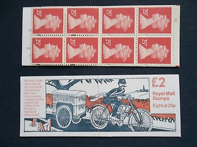 Fw1 Postal Vehicles Motorised Cycle Carrier £2 Machin Stamp Booklet Cylinder B3
