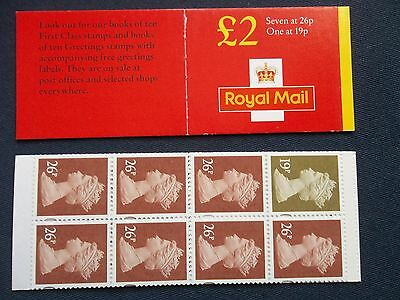 Fw11 £2 Machin Gb Folded Stamp Booklet Red Cover Photo Print 19P