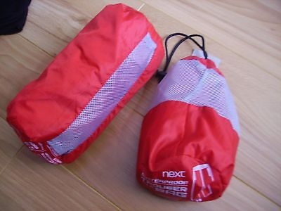 girls/boys next red waterproof trousers jacket/coat set age 12-18 months nwt