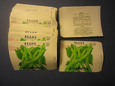 Wholesale Lot of 100 Old Vintage Pole BEANS - SEED PACKETS - San Antonio - EMPTY