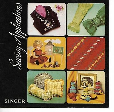 1975 Singer Sewing Applications Booklet
