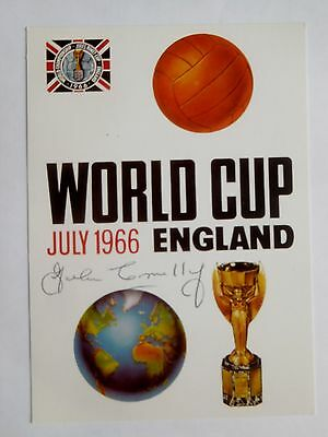World Cup Final 1966 Poster postcard SIGNED JOHN CONNELLY (died) Burnley England