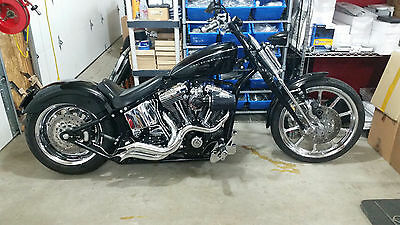 BIG STR RADIUS STEP TUNED RACING vance EXHAUST pipes HARLEY SOFTAIL hines