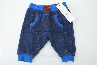 Little Marc Jacobs navy 6mon cotton kangaroo pocket infant jogger sweat pant $86