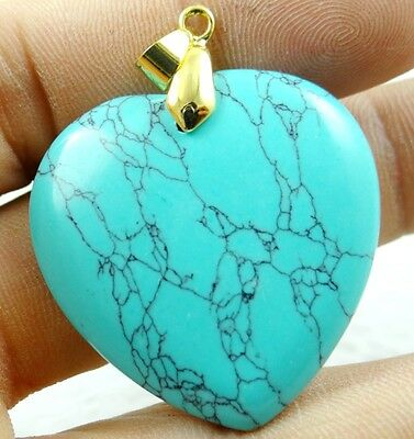 Natural picture Peach Turquoise agate pendant Gemstone necklace