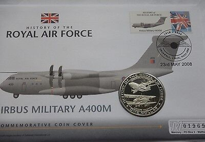Nauru Dollar $1 2007 History of the RAF Airbus A400M PNC Stamp Cover