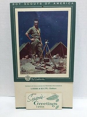 The Scoutmaster 1956 Calendar Norman Rockwell Boy Scouts of America