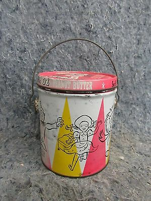 VINTAGE Tin Man OZ Brand PEANUT BUTTER TIN Swifts