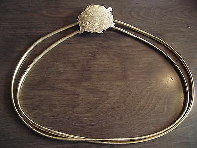 """Gorgeous Vintage Signed """"Trigere"""" Gold Plated Double Snake Stretch Belt w/Buckle"""