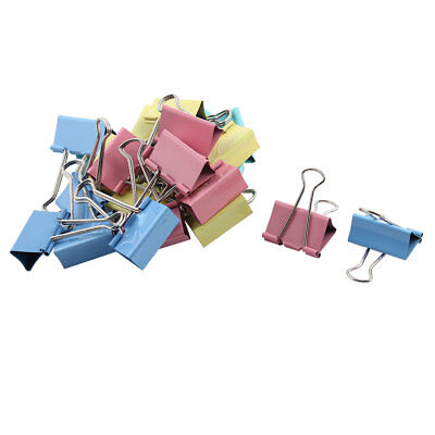 School Document Paper Metal File Organizer Binder Clip Assorted Color 24pcs