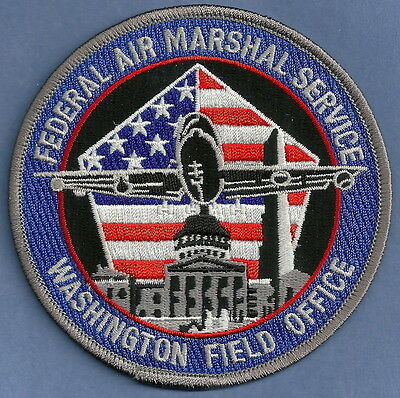 United States Federal Air Marshal Washington D.c. Field Office Police Patch
