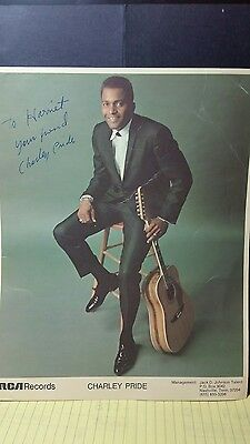 Charlie Pride Picture with Signature