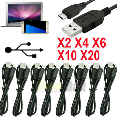 X2 X4 X6 X10 X20 Micro USB Charger Charging Sync Data Cable For Android Phone US