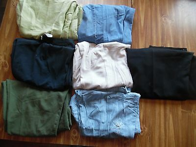 Lot 7 women's 24W dress pants and jeans. black blue green khaki